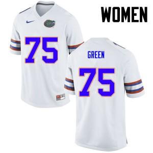 Women Florida Gators #75 Chaz Green College Football White 732543-253
