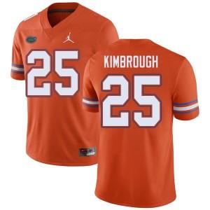 Jordan Brand Men #25 Chester Kimbrough Florida Gators College Football Jerseys Orange 671860-434