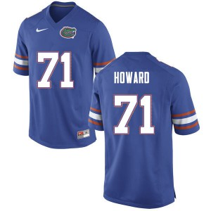 Men #71 Chris Howard Florida Gators College Football Jerseys Blue 502316-244