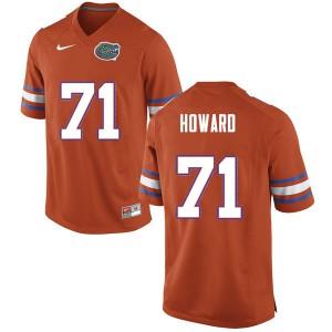 Men #71 Chris Howard Florida Gators College Football Jerseys Orange 563018-277