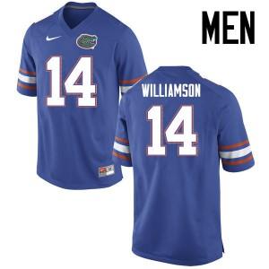 Men Florida Gators #14 Chris Williamson College Football Jerseys Blue 982909-360