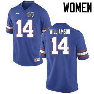 Women Florida Gators #14 Chris Williamson College Football Jerseys Blue 578020-216