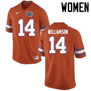 Women Florida Gators #14 Chris Williamson College Football Jerseys Orange 295990-916