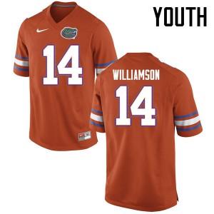 Youth Florida Gators #14 Chris Williamson College Football Jerseys Orange 963985-616