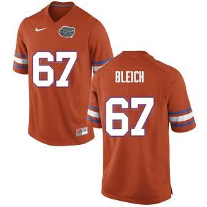 Men #67 Christopher Bleich Florida Gators College Football Jerseys Orange 747413-275
