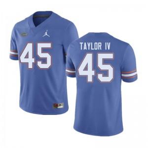 Jordan Brand Men #45 Clifford Taylor IV Florida Gators College Football Jerseys Blue 798294-278