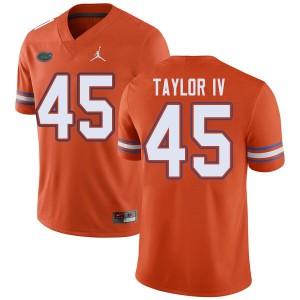 Jordan Brand Men #45 Clifford Taylor IV Florida Gators College Football Jerseys Orange 143245-871