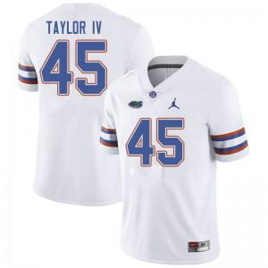 Jordan Brand Men #45 Clifford Taylor IV Florida Gators College Football Jerseys White 342415-793