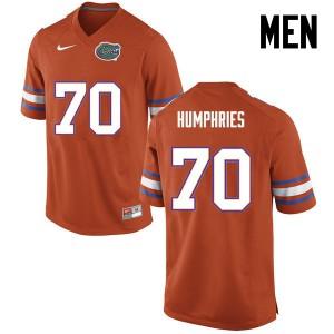 Men Florida Gators #70 D.J. Humphries College Football Orange 818017-982