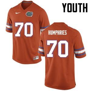 Youth Florida Gators #70 D.J. Humphries College Football Orange 111753-343