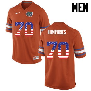 Men Florida Gators #70 D.J. Humphries College Football USA Flag Fashion Orange 475910-748