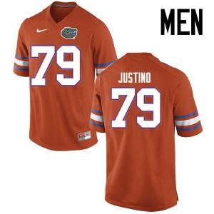Men Florida Gators #79 Daniel Justino College Football Jerseys Orange 809428-622
