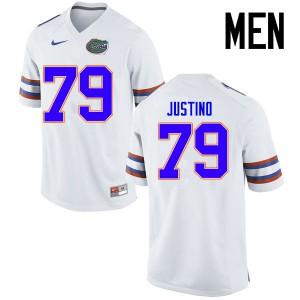 Men Florida Gators #79 Daniel Justino College Football Jerseys White 716049-523