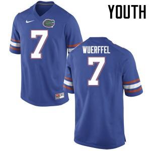 Youth Florida Gators #7 Danny Wuerffel College Football Jerseys Blue 990074-476