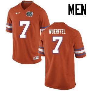 Men Florida Gators #7 Danny Wuerffel College Football Jerseys Orange 171270-602