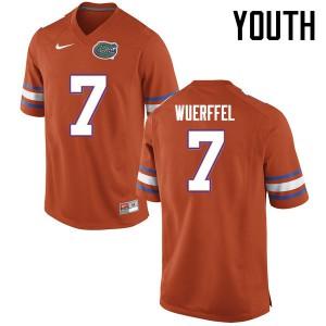 Youth Florida Gators #7 Danny Wuerffel College Football Jerseys Orange 463636-498