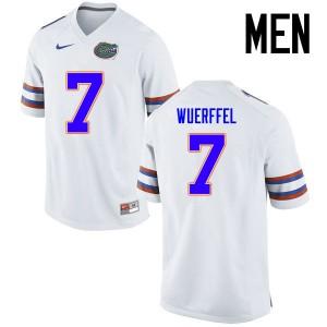 Men Florida Gators #7 Danny Wuerffel College Football Jerseys White 790066-697