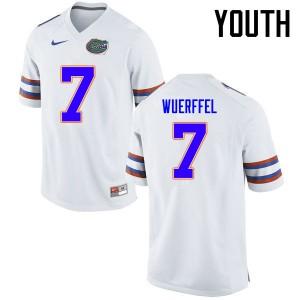 Youth Florida Gators #7 Danny Wuerffel College Football Jerseys White 111400-772