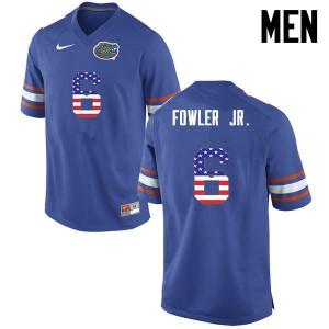 Men Florida Gators #6 Dante Fowler Jr. College Football USA Flag Fashion Blue 269555-406
