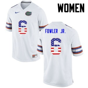 Women Florida Gators #6 Dante Fowler Jr. College Football USA Flag Fashion White 257305-628