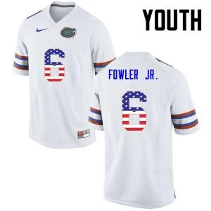 Youth Florida Gators #6 Dante Fowler Jr. College Football USA Flag Fashion White 185217-783