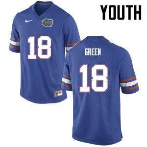 Youth Florida Gators #18 Daquon Green College Football Blue 686613-355