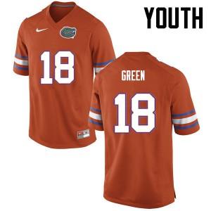 Youth Florida Gators #18 Daquon Green College Football Orange 852332-976