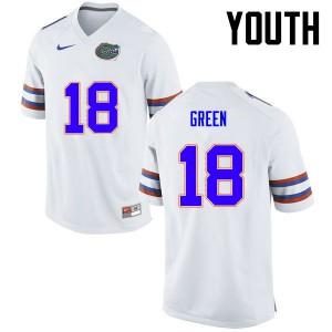 Youth Florida Gators #18 Daquon Green College Football White 342721-353