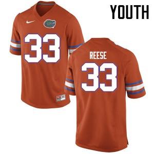 Youth Florida Gators #33 David Reese College Football Jerseys Orange 126479-513