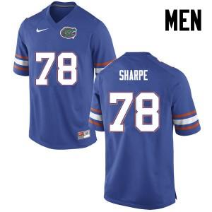 Men Florida Gators #78 David Sharpe College Football Blue 903487-113