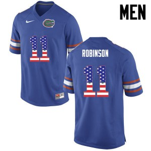 Men Florida Gators #11 Demarcus Robinson College Football USA Flag Fashion Blue 213281-850