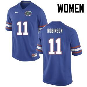 Women Florida Gators #11 Demarcus Robinson College Football Blue 242523-814