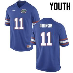 Youth Florida Gators #11 Demarcus Robinson College Football Blue 131831-390