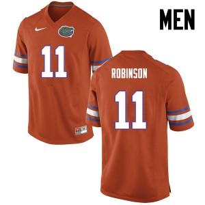 Men Florida Gators #11 Demarcus Robinson College Football Orange 266312-776