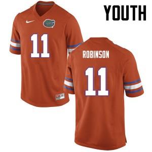 Youth Florida Gators #11 Demarcus Robinson College Football Orange 914413-121