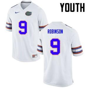 Youth Florida Gators #11 Demarcus Robinson College Football White 131478-559