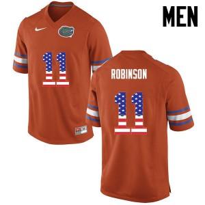 Men Florida Gators #11 Demarcus Robinson College Football USA Flag Fashion Orange 200213-510
