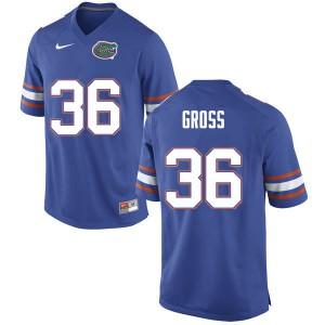 Men #36 Dennis Gross Florida Gators College Football Jerseys Blue 158257-195