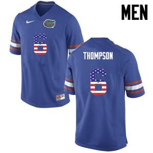 Men Florida Gators #6 Deonte Thompson College Football USA Flag Fashion Blue 974808-145