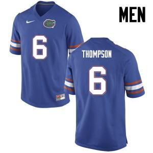 Men Florida Gators #6 Deonte Thompson College Football Blue 510857-208