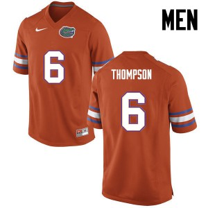 Men Florida Gators #6 Deonte Thompson College Football Orange 661478-839