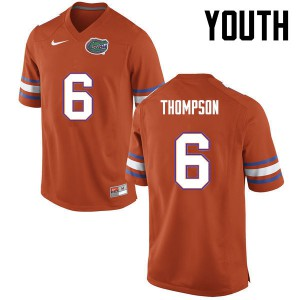 Youth Florida Gators #6 Deonte Thompson College Football Orange 383795-868
