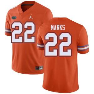 Jordan Brand Men #22 Dionte Marks Florida Gators College Football Jerseys Orange 283838-148