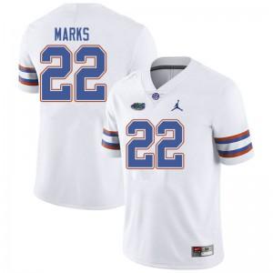 Jordan Brand Men #22 Dionte Marks Florida Gators College Football Jerseys White 261707-534