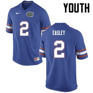 Youth Florida Gators #2 Dominique Easley College Football Blue 115193-879