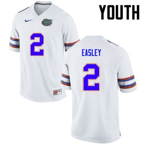 Youth Florida Gators #2 Dominique Easley College Football White 773199-211