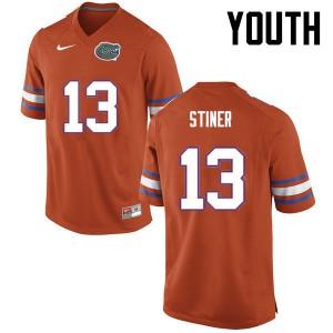 Youth Florida Gators #13 Donovan Stiner College Football Orange 225654-419