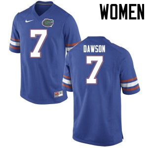 Women Florida Gators #7 Duke Dawson College Football Jerseys Blue 876774-996