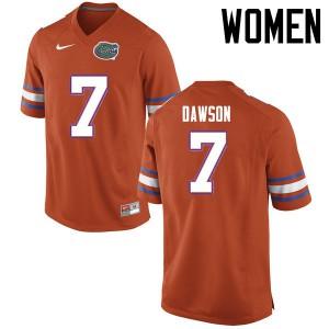Women Florida Gators #7 Duke Dawson College Football Jerseys Orange 512054-395
