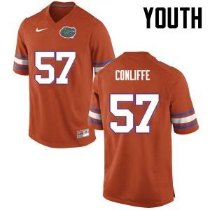 Youth Florida Gators #57 Elijah Conliffe College Football Orange 998672-153